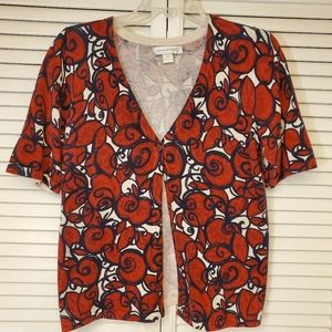 Christopher Banks short sleeve cardigan one button